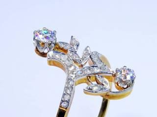28石2種類のオールドカットダイヤ(鑑定書付)【商品番号4699】g
