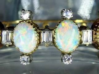 約3.5ctオールドカットダイヤとオパール約10ct(鑑定書付)【商品番号4611】c