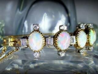 約3.5ctオールドカットダイヤとオパール約10ct(鑑定書付)【商品番号4611】d