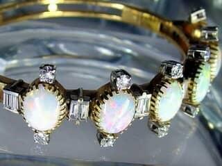 約3.5ctオールドカットダイヤとオパール約10ct(鑑定書付)【商品番号4611】f