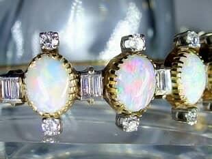 約3.5ctオールドカットダイヤとオパール約10ct(鑑定書付)【商品番号4611】g