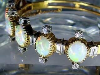 約3.5ctオールドカットダイヤとオパール約10ct(鑑定書付)【商品番号4611】h