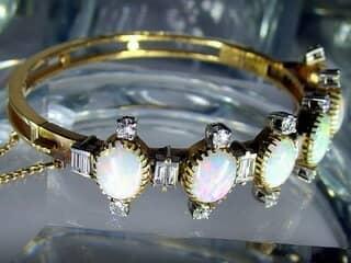 約3.5ctオールドカットダイヤとオパール約10ct(鑑定書付)【商品番号4611】i