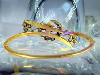 2種のオールドカットダイヤで月と星(フランス刻印)(鑑定書付)【商品番号4680】i