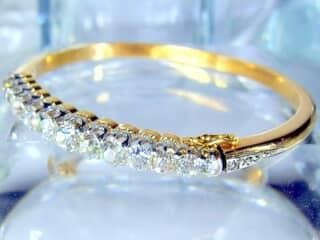 約4ct2種のオールドカットダイヤ使用(鑑定書付)【商品番号4690】d