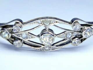 合計約1ct2種類のオールドカットダイヤモンドのブレスレット(鑑定書付)【商品番号BR05】c