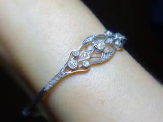 合計約1ct2種類のオールドカットダイヤモンドのブレスレット(鑑定書付)【商品番号BR05】e