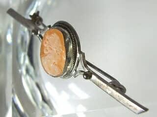 シェルカメオ(54.7×16.6ミリ)【商品番号022b】f