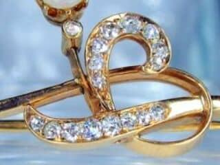 真珠と2種のオールドカットダイヤ16石【商品番号1068a】c