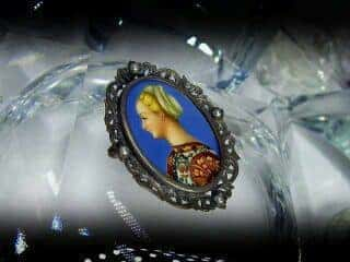 ミニアチュール(象牙)と真珠【商品番号1117a】c