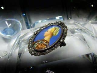 ミニアチュール(象牙)と真珠【商品番号1117a】f