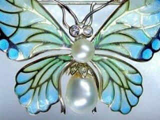 プリカジュールエナメル,真珠,ダイヤモンド【商品番号1201a】c