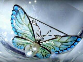 プリカジュールエナメル,真珠,ダイヤモンド【商品番号1201a】f