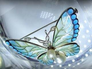 プリカジュールエナメル,真珠,ダイヤモンド【商品番号1201a】g
