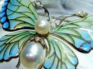 プリカジュールエナメル,真珠,ダイヤモンド【商品番号1201a】h