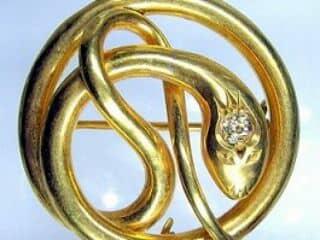 蛇モチーフ&オールドヨーロピアンカットダイヤ【商品番号1203A】c