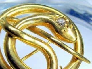 蛇モチーフ&オールドヨーロピアンカットダイヤ【商品番号1203A】d