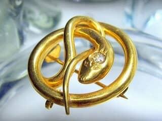 蛇モチーフ&オールドヨーロピアンカットダイヤ【商品番号1203A】f