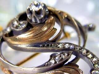 真珠と2種のオールドカットダイヤ32石【商品番号3376】h