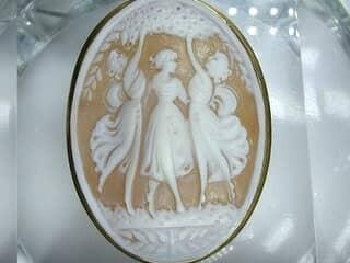 イタリア刻印カメオの三美神【商品番号511c】c
