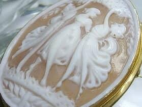 イタリア刻印カメオの三美神【商品番号511c】i
