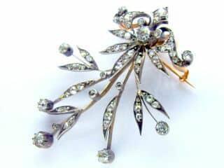3種のオールドカットダイヤ使用(鑑定書付)【商品番号b12】c