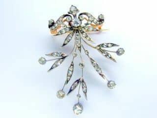 3種のオールドカットダイヤ使用(鑑定書付)【商品番号b12】e