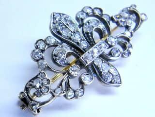2種のオールドダイヤ,ユリの紋章(鑑定書付)【商品番号b31】e