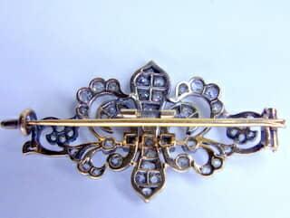 2種のオールドダイヤ,ユリの紋章(鑑定書付)【商品番号b31】h