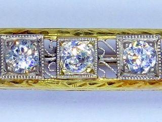 約0.5CTオールドダイヤ7石とサファイア【商品番号b38】d
