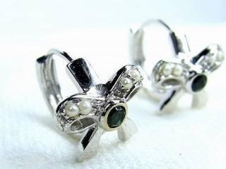トルマリン2石と真珠8粒【商品番号220d】c
