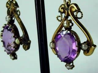 アメジストと真珠とエナメル【商品番号e16】d