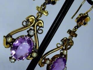 アメジストと真珠とエナメル【商品番号e16】i