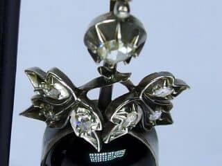 約1.4ctダイヤとカボッションガーネット(鑑定書付)【商品番号E20】c
