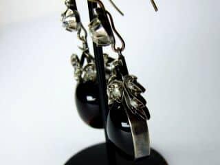 約1.4ctダイヤとカボッションガーネット(鑑定書付)【商品番号E20】i