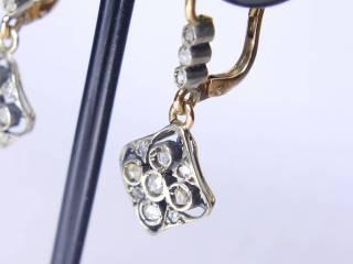 24石のローズカットダイヤ【商品番号E34】e