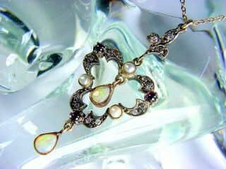 ダイヤとオパールと真珠【商品番号1276】b