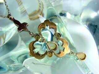 ダイヤとオパールと真珠【商品番号1276】c76