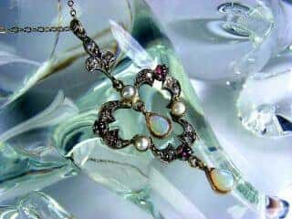 ダイヤとオパールと真珠【商品番号1276】e