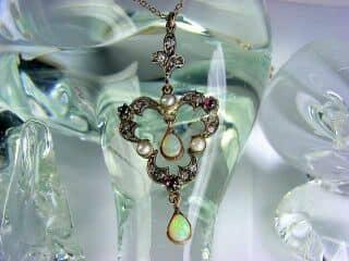 ダイヤとオパールと真珠【商品番号1276】f