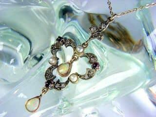 ダイヤとオパールと真珠【商品番号1276】h