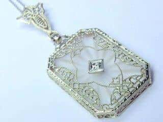ロステッドグラスとダイヤとフィリグリー(鑑定書付)【商品番号n04】c