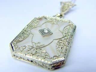 ロステッドグラスとダイヤとフィリグリー(鑑定書付)【商品番号n04】d