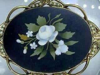 フローレンスモザイク3種メノウとオニキスと真珠【商品番号1139a】c
