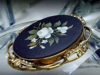 フローレンスモザイク3種メノウとオニキスと真珠【商品番号1139a】d
