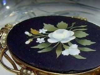 フローレンスモザイク3種メノウとオニキスと真珠【商品番号1139a】f