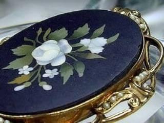 フローレンスモザイク3種メノウとオニキスと真珠【商品番号1139a】i