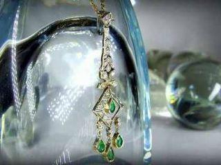 35石のダイヤとエメラルド(鑑定書付)【商品番号2538】c