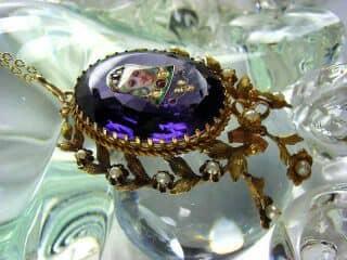 ルビーと真珠とリモージュエナメル(鑑定書付)【商品番号3619】f