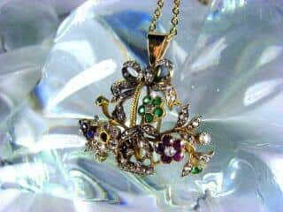 ジャルディネッティの5種宝石使用(鑑定書付)【商品番号4362】b